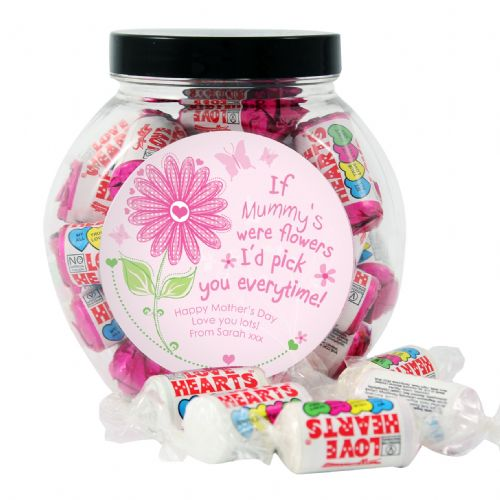 Personalised Id Pick You Love Hearts Sweet Jar